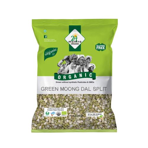 Organic Green Gram Split(Pesarapappu) - 500gm