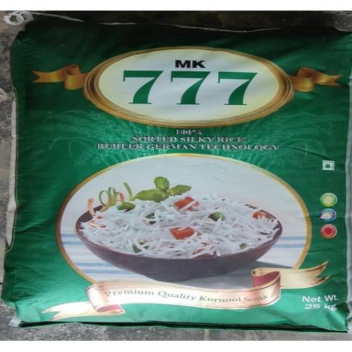 Sonamasoori Rice - 777 - 25Kg